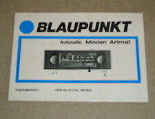 Betriebsanleitung Operation Instructions Blaupunkt Autoradio Minden Arimat