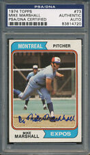 1974 Topps #73 Mike Marshall PSA/DNA Certified Authentic Auto Autograph *4720