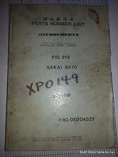 MITSUI KHD DEUTZ F5L 912 PARTS MANUAL DIESEL ENGINE 05004521
