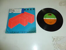 """FOREIGNER - That Was Yesterday - 1984 UK 2-track 7"""" Vinyl Single"""