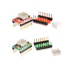 4 pcs A4988 3D Printer Reprap Stepper Motor Driver with Heatsink  Arduino