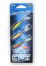 New Clam 14347 Panfish Leech Flutter Spoon Kit 1/32 OZ Size 14 Glow Wonderbread