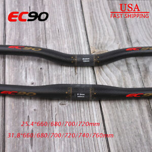 EC90 Carbon Fiber Handlebar 660-760mm MTB Mountain Bike 25.4/31.8 Flat Riser Bar