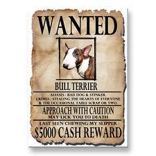 Bull Terrier Wanted Poster Fridge Magnet No 2 Dog Funny