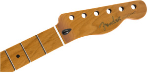 "Genuine Fender ROASTED MAPLE Tele/Telecaster Neck, 22 Jumbo Frets/12""/Flat Oval"