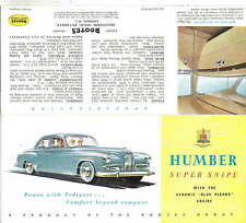 Humber Super Snipe Mk IV Original Export Sales Brochure No. 5023/EX/94/15 1954
