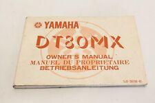 Yamaha DT 80 MX Betriebsanleitung Bedienungsanleitung Anleitung Bj.81'