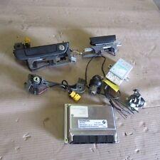 BMW 12141430844 E36 Z3 2.5L ENGINE COMPUTER DME EWS KEY SET HANDLE LOCK OEM
