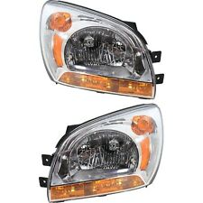 Headlight Set For 2005 2010 Kia Sportage Left And Right With Bulb Type 1 2pc Fits 2007 Sportage