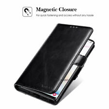 Black Magnetic Leather Wallet Phone Case Flip Cover For Samsung Galaxy iPhone LG