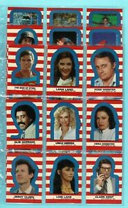SUPERMAN III - THE MOVIE - TOPPS - 1983 TRADING STICKER CARD SET 1 - 22 (QP05)