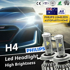 H4 LED Headlights to Suit Nissan Patrol GU 1997 - 2013 HIGH LOW Beam Globle Bulb