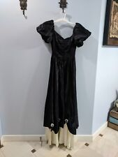 Formal Prom Dress Black And Ivory Size 3ish, Made In USA Antique, Made By ILGWU