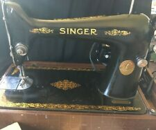 Vintage 1916 Singer Type 66 Sewing Machine with Accessories and Manuals TESTED
