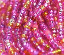 """Czech Glass Seed Beads Size 10/0 """" MIXTURE HOT PINK """" 1 Hank"""