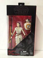 "Star Wars Black Series 6"" Rey Jakku and BB8 The Force Awakens  Damaged Packaging"