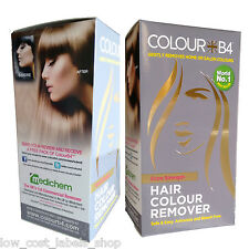 2 x Colour B4 Hair Dye Colour Remover Extra Strength NO Ammonia or Bleach