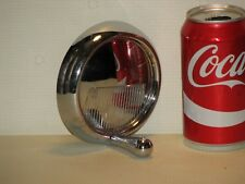 """Chrome Machine Handle with spinner knob - 3/8 bore with set screw 4.5"""" wide"""