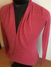 The Limited Pullover Collared Women Sz S Merino Wool Blend Thin Top Pink