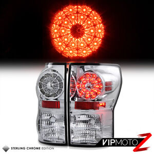 LOOK BRIGHTEST LED Tail Light Brake Signal Lamp For 07-13 Toyota Tundra LH+RH