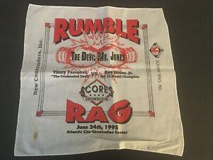 ROY JONES JR. VS VINNY PAZIENZA WORLD CHAMPIONSHIP 17 X 17  RUMBLE RAG