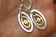 New Altered Brighton Geneva Rings Silver &Gold Charm Hoop On Lever Back Earrings