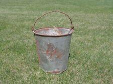 "New listing Galvanized Bucket Pail Metal Vintage Shabby Primitive Rusty Planter Pot Farm 11"""