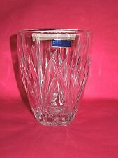"""MARQUIS by WATERFORD LEAD CRYSTAL BROOKSIDE  HURRICANE ROSE VASE 5.5""""  MINT"""