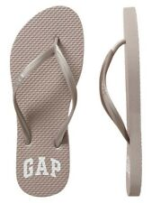 BNEW GAP Logo Womens  Sandals / Slippers / Flip flop - Size 7 Pearl