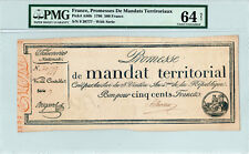 France 500 Francs P#A86b (1796) *Single Highest Graded* PMG 64 Net