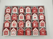 Bird House Advent Calendar Wooden Christmas Tree Decoration Fill Your Own