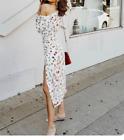 AFRM Emme One Shoulder Midi Dress - White Floral