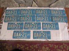 Vtg 1987 Lot of 13 New Jersey State License Plates New Car Dealer in Sequence