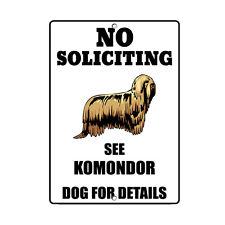 Komondor Dog No Soliciting See Novelty Metal Sign