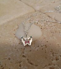 Sterling Silver Sp Crystal Butterfly Charm Belly Chain A Great Gift Idea!