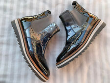 Pier One Patent Leather Ankle Boots Size 5