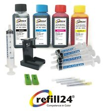 Kit de recarga para cartuchos de tinta HP 302,302 XL negro+ color + 400 ML Tinta