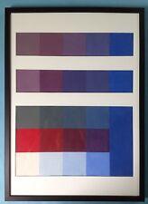 #2:Kunst nach 45 abstrakt Gemälde farbnuancierte Quadrate Prof. Ernst Geitlinger