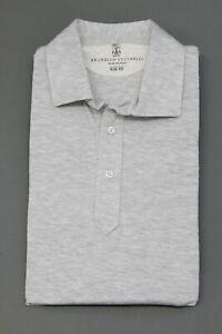 """NWT Brunello Cucinelli Men's """"Slim Fit"""" Linen-Cotton Knit Polo Shirt Size M A211"""