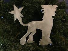 Chinese Crested, Dog Tree Topper, Wreath Decor, Handmade, Holiday, Christmas