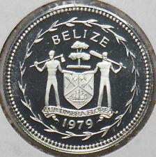 Belize 1979 FM(P) 25 Cents Blue Crowned Motmot animal Proof 192823 combine shipp