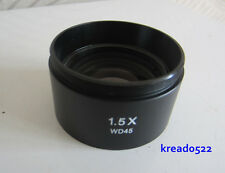 1.5x Barlow AUX Optical Lab Objective Lens for Stereo Microscope / M48*0.75