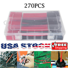 270pcs Dual Wall Waterproof Wire Cable Sleeve 31 Heat Shrink Tubing Kit