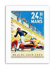 MOTOR RACE 24 HOUR LE MANS FRANCE Poster Sport Canvas art Prints