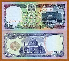 Afghanistan, 5000 (5,000) Afghanis, 1993, P-62, UNC