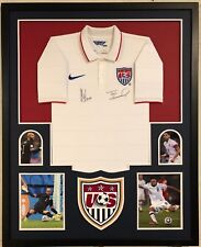 Framed Clint Dempsey & Tim Howard Signed Usa Soccer Jersey Jsa & Steiner Coa