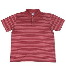 PGA Tour Mens XL Golf Polo Shirt Red Striped Official Licensed Apparel