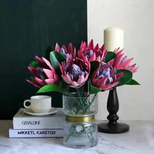 Artificial Flower Silk King Protea DIY Flower Arrangement Fake Emperor Flowers