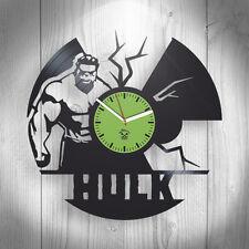 Hulk Marvel Comics Vinyl Wall Clock Best Gift Living Room Decor Unique Design
