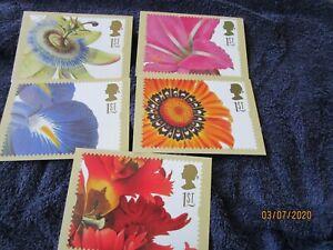 GREETINGS - FLOWER PAINTINGS  POST OFFICE PICTURE CARD JAN 1997 GS5